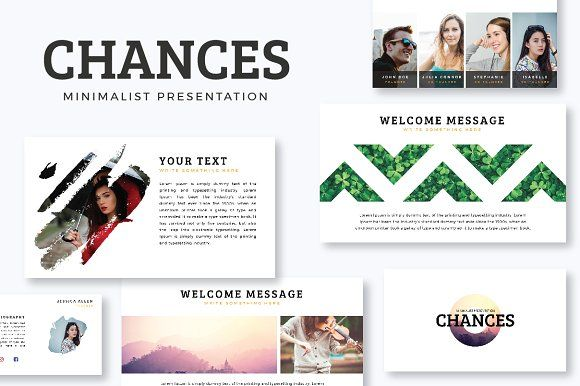 Chances PowerPoint Template by Yellowplate on @creativemarket