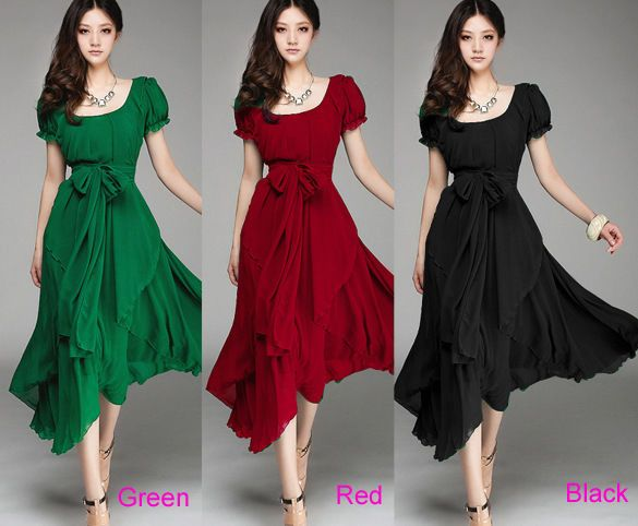 Sexy Chiffon Long Chiffon Evening Formal Party Cocktail Dress Bridesmaid Prom | eBay