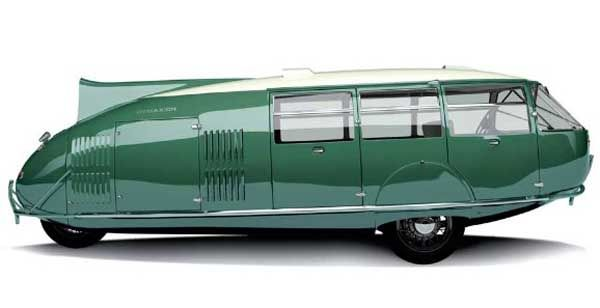 Dymaxion Car, 1933 Designed by R. Buckminster Fuller as an eco car, it had just 3 wheels, boasted 30mpg, and had room for 11. Only four have ever been produced. Good NYT article here: http://apt528.co/1cb0F9x Photo copyright Gregory Gibbons #Expo2015 #Milan #WorldFair