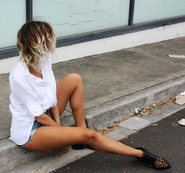 Split Back Button Down | Bella Dahl | White Button Down Shirt