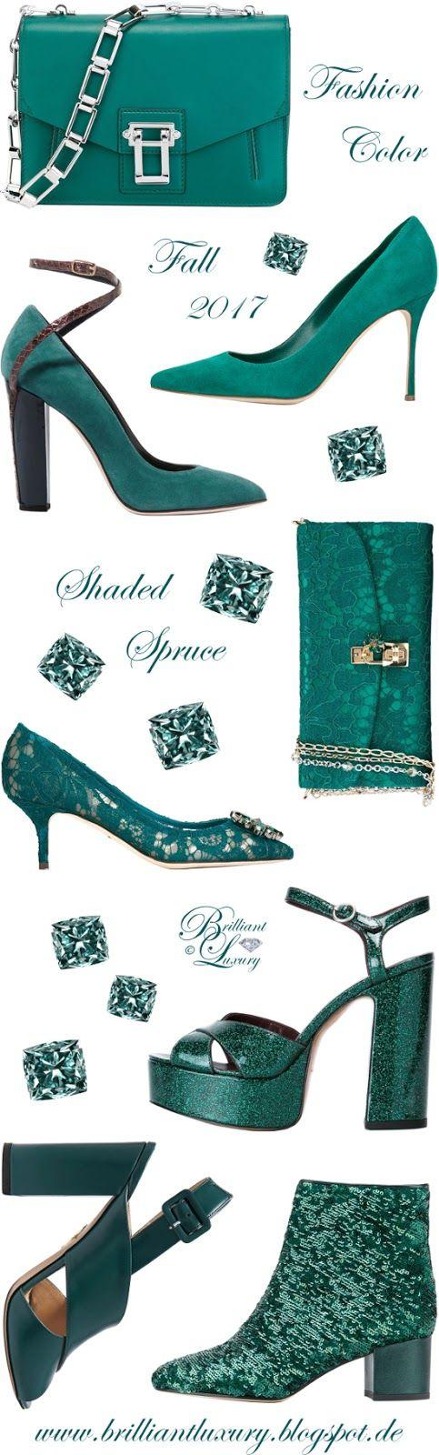 Brilliant Luxury by Emmy DE ♦ Fashion Color Fall 2017 ~ shaded spruce