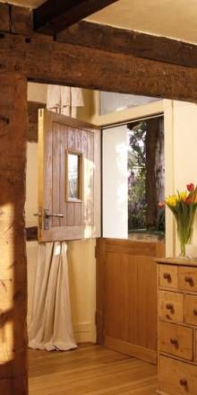 I love stable doors from the kitchen and this one is particularly lovely