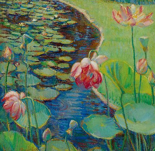 Donna Schuster  Water Lilies  1925