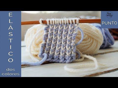 Punto Elástico en dos colores Reversible (dos agujas) - Soy Woolly - YouTube