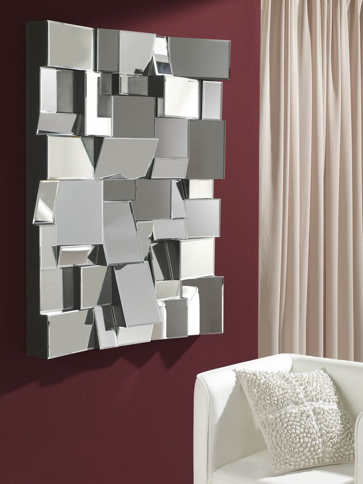 kreuz und quer geht es bei diesem #Spiegel zu  #dekoration #schminken #glas
