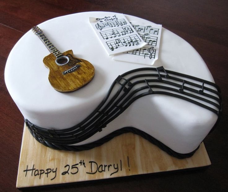 Cake Decorations Musical Instruments : 17 Best images about cakes on Pinterest Johnny cash cake ...