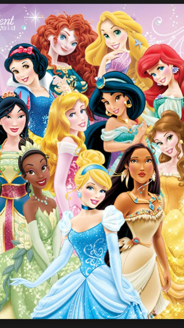 All the girls ️ (With images) | All disney princesses ...