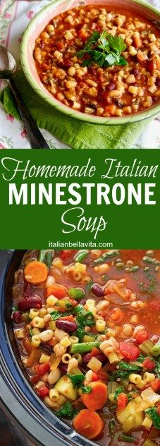 Classic Italian Minestrone Soup with STEP-BY-STEP PHOTOS using the INSTANT POT -- La Bella Vita Cucina