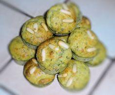 Muffins salés au pesto et au parmesan
