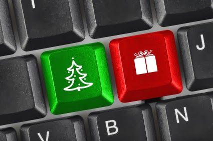 Vánoční klávesnice. Christmas keyboard.