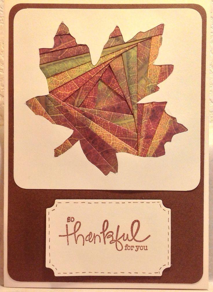Iris Folded Fall Leaf Card