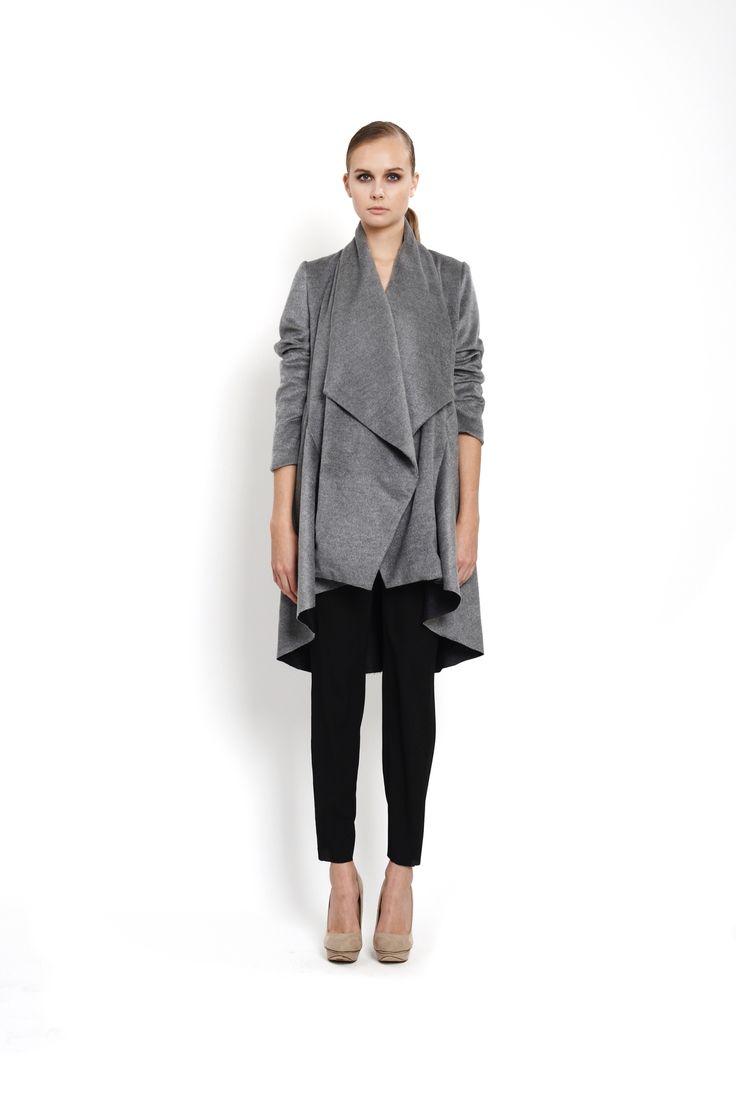 flared coat with oversized collar, design Lucie Kutálková, LEEDA store