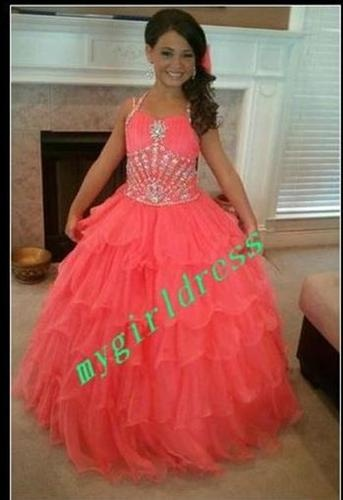 i love this pagent dress if it was either purple or baby blue.