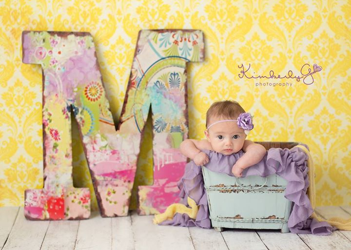 M is for Madelyn who is 3 months old today…..