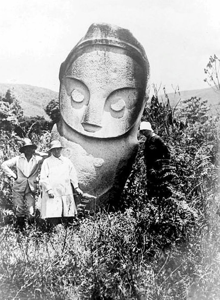 Megalith in Bada Valley, Indonesia, date unknown.