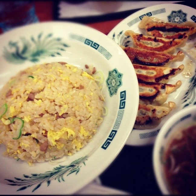 Fried rice and dumplings