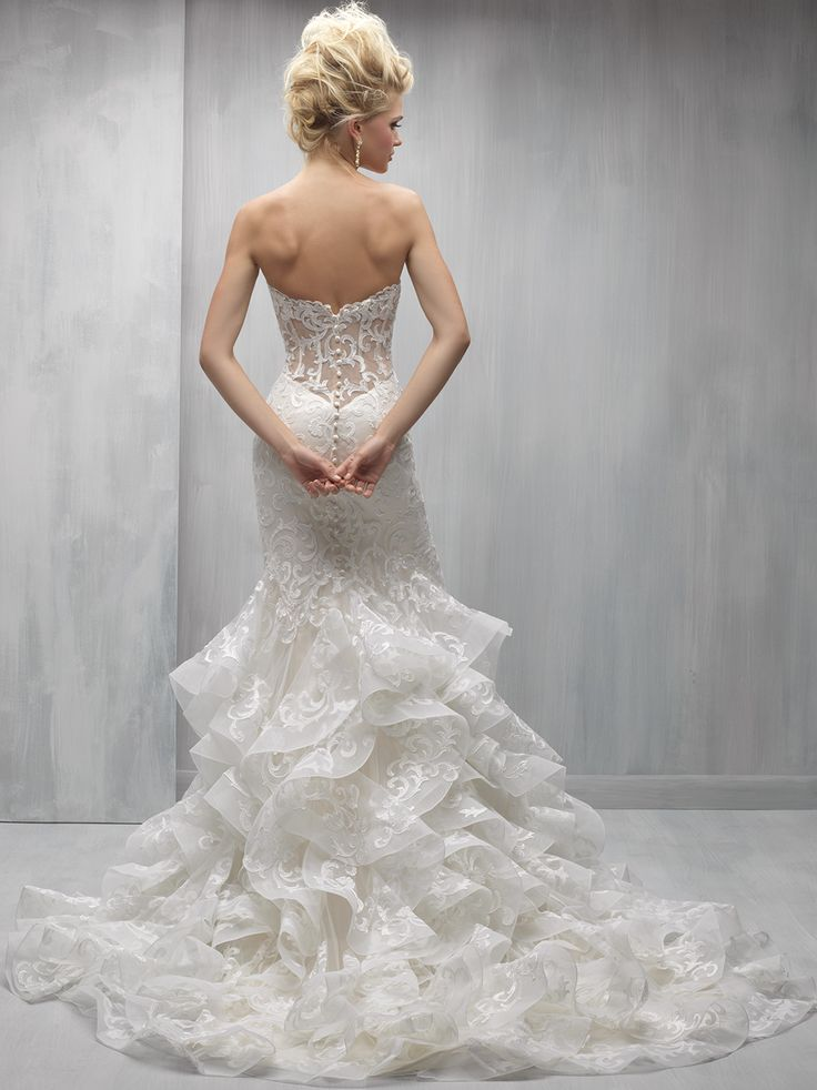 146 best dramatic back wedding gowns images on pinterest for Wedding dresses with dramatic backs