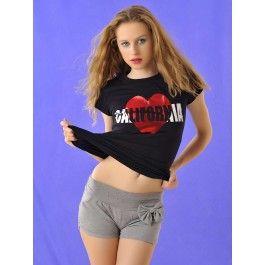 Pantalon Gris Corto Mujer PA176