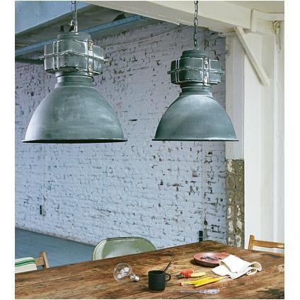 Brilliant hanglamp Anouk betonlook met glasplaat | Praxis