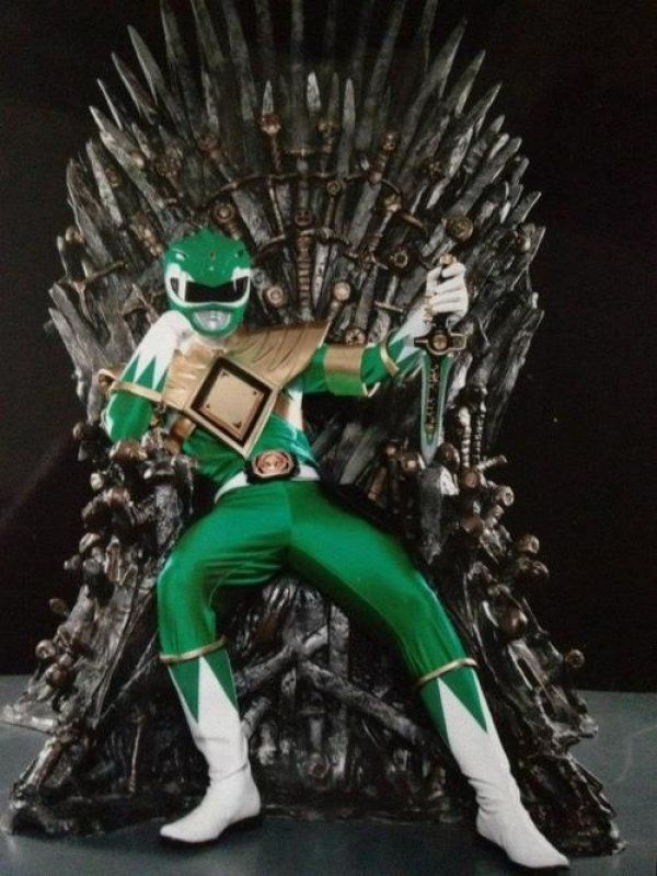 Green Ranger Sits On the Iron Throne