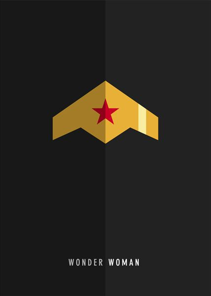 Wonder Woman ~ Justice League Series ~ Minimal Movie Poster by Kareem Magdi #amusementphile