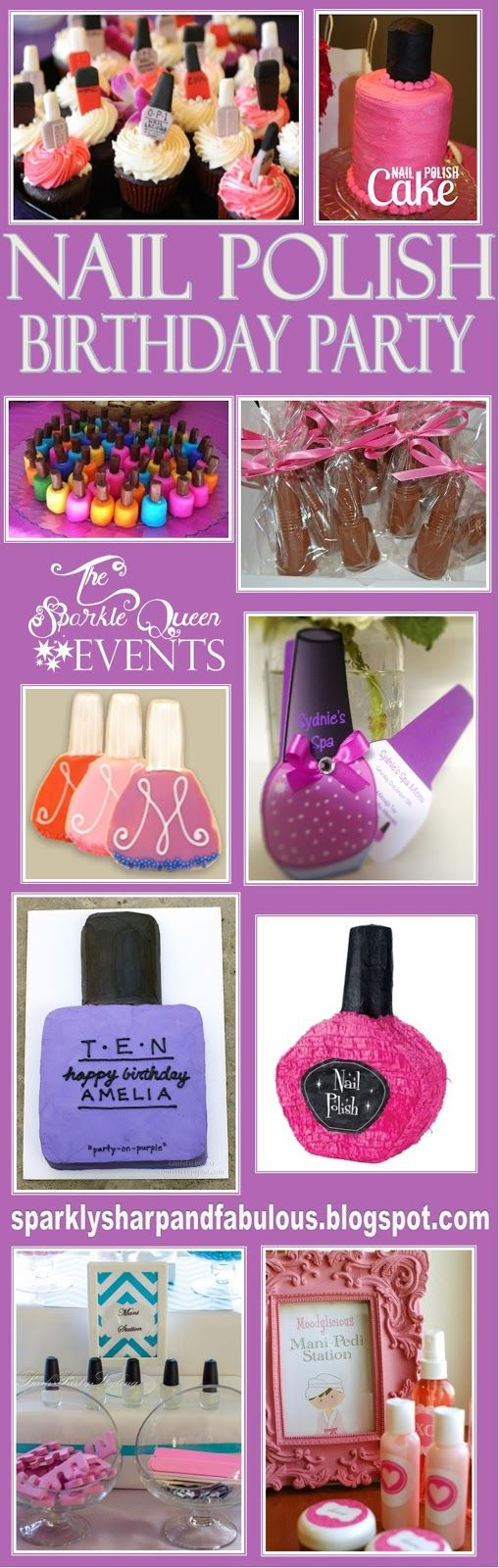 Nail Polish Themed Birthday Party,glad I found this because this is the theme My daughter wants for her next party!!!