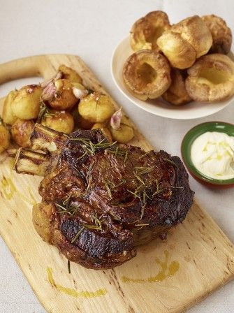 Try out Jamie's roast fore rib of beef with garlic rosemary for your next Sunday dinner and make it that little bit more special.