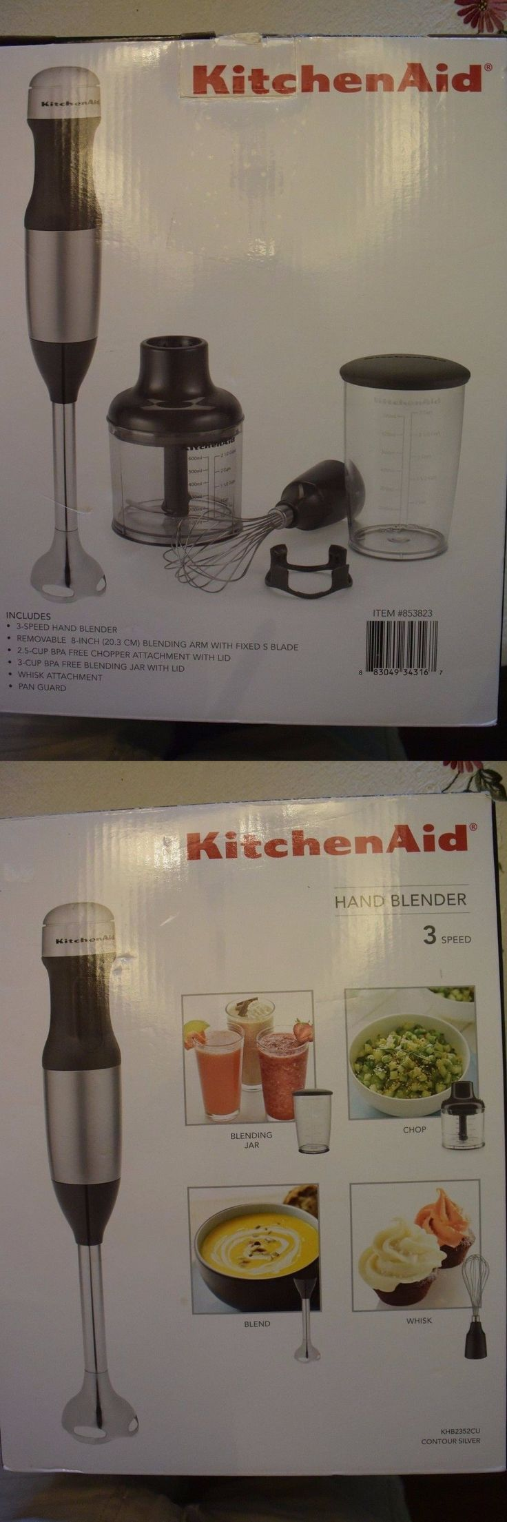 Kitchenaid 3 Speed Hand Immersion Blender With Accessories Page 1 ...