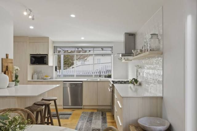 The Final Reveal! - Bloom House Flip. Navurban Silkwood installed in the kitchen for this exciting project in order to raise funds for charity organisation Bloom Asia. Joinery by Behrendorff Cabinets