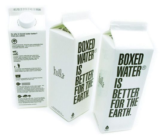 Boxed Water is better for the Earth…love this new product!