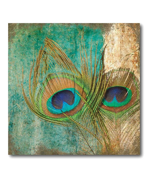 at this Peacock Feather Abstract I Canvas Wall Art on zulily todayAbstract Peacock Wall Art