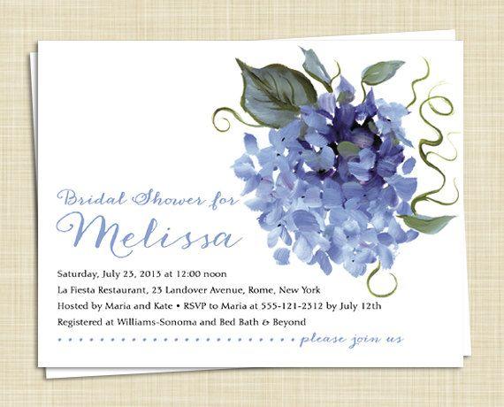 Hortensia de novia invitaciones de la ducha / por EclecticNoteCards
