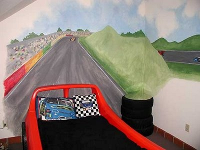 cars lightning mcqueen room kids mural