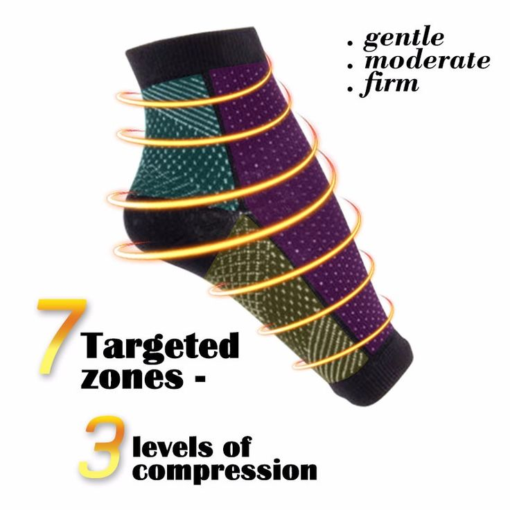 Mens Women Comfort Foot Anti Fatigue Compression Sleeve Relieve Swelling Varicosity Socks Online - NewChic