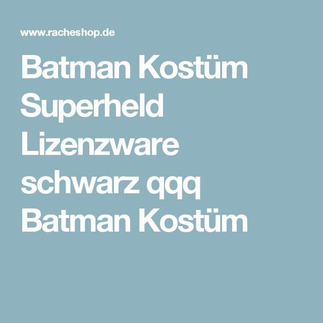 Batman Kostüm Superheld Lizenzware schwarz qqq Batman Kostüm
