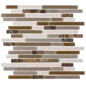 Elida Ceramica�Cocoa Mountain Mixed Material Mosaic Indoor/Outdoor Wall Tile (Common:; Actual: 11.75-in x 12-in)