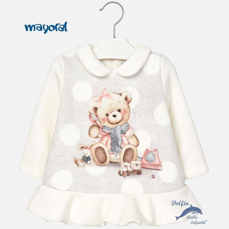 Vestido de bebe MAYORAL de felpa serigrafiado oso