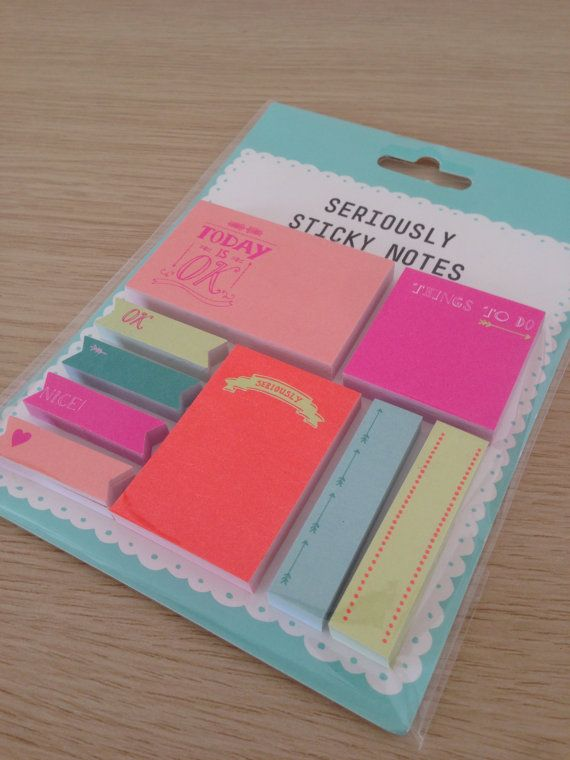 Sticky notes set Quotes by LadyendeVagehond on Etsy