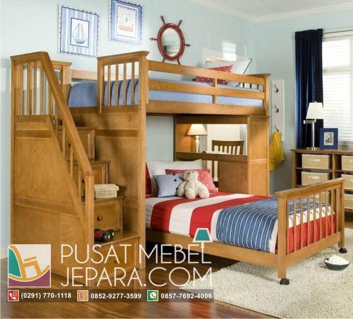 tempat-tidur-anak-tingkat-tangga-laci-dan-meja-belajar-nautical