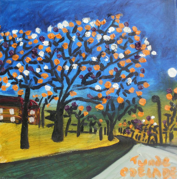 AUTUMN BRIGHTNESS, PLUMSTEAD (12X12 INCHES) | Tunde Odelade Art