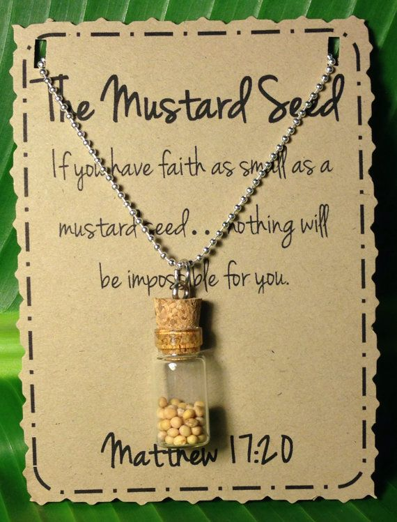 Love the mustard seed necklace!