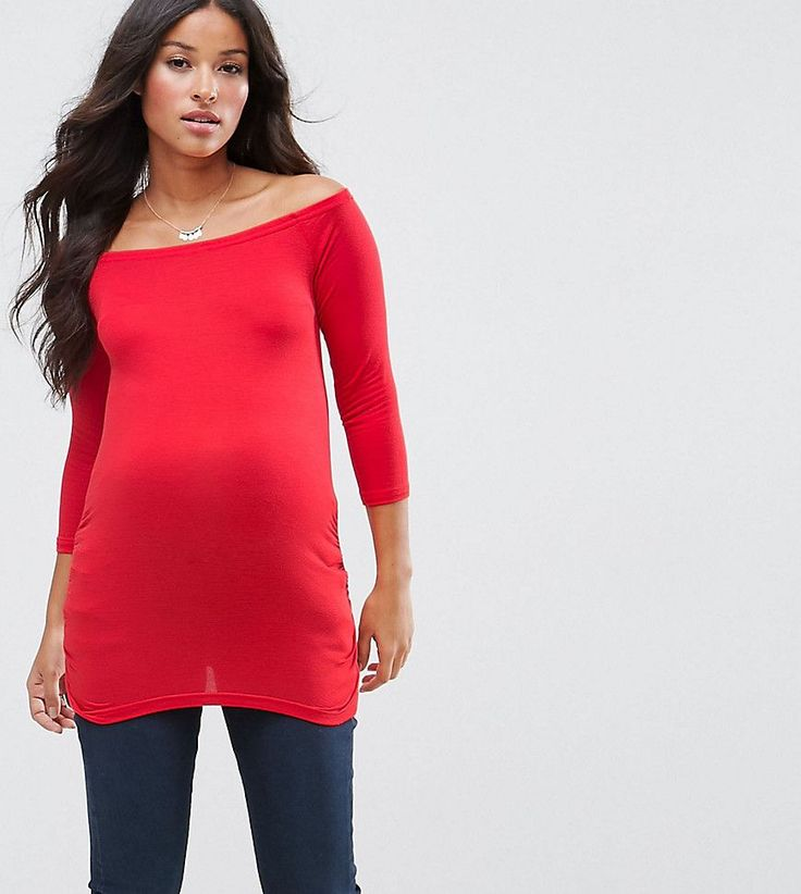 New Look Maternity Bardot Top - Red