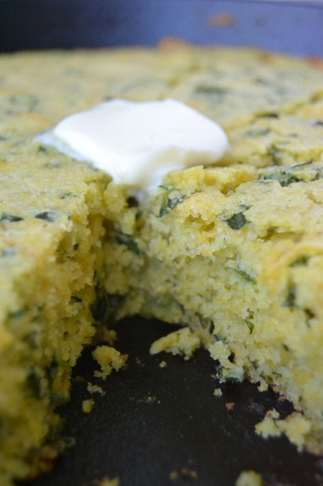 Cheddar Kale Skillet Cornbread from The View From Great Island