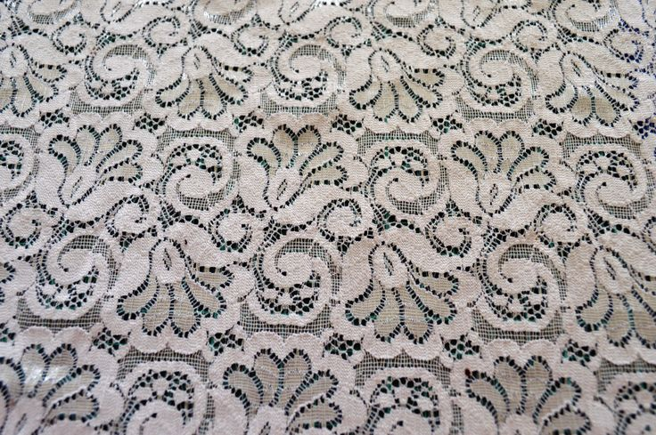 NC007, white elastic lace, 30.5cm wide. floral design, finished edges. by TheQuiltedCheese on Etsy
