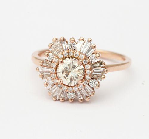 hexagon gatsby ring