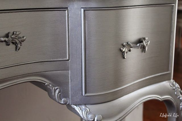 Metallic Silver Paint Looks - Shiny, Aged and Antique Furniture