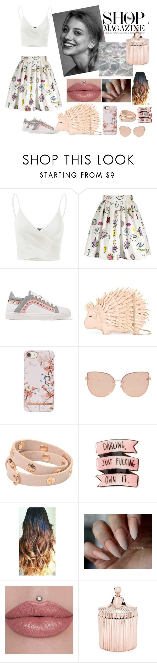 """SWEET AS SUGAR 🌹🌸"" by dumitru-ariadna ❤ liked on Polyvore featuring Doublju, Sophia Webster, Kate Spade, Topshop, Tory Burch and Saks Fifth Avenue"
