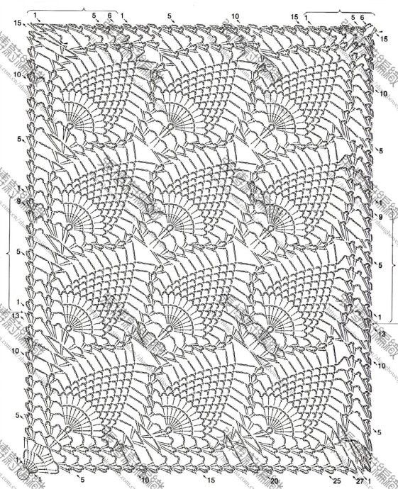 Mejores 77 imágenes de motifs en Pinterest | Patrones de ganchillo ...