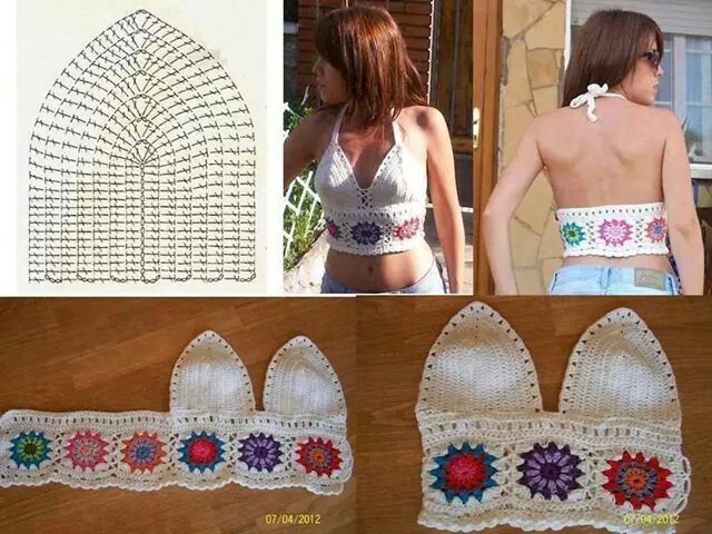 Crochet Crop Top.