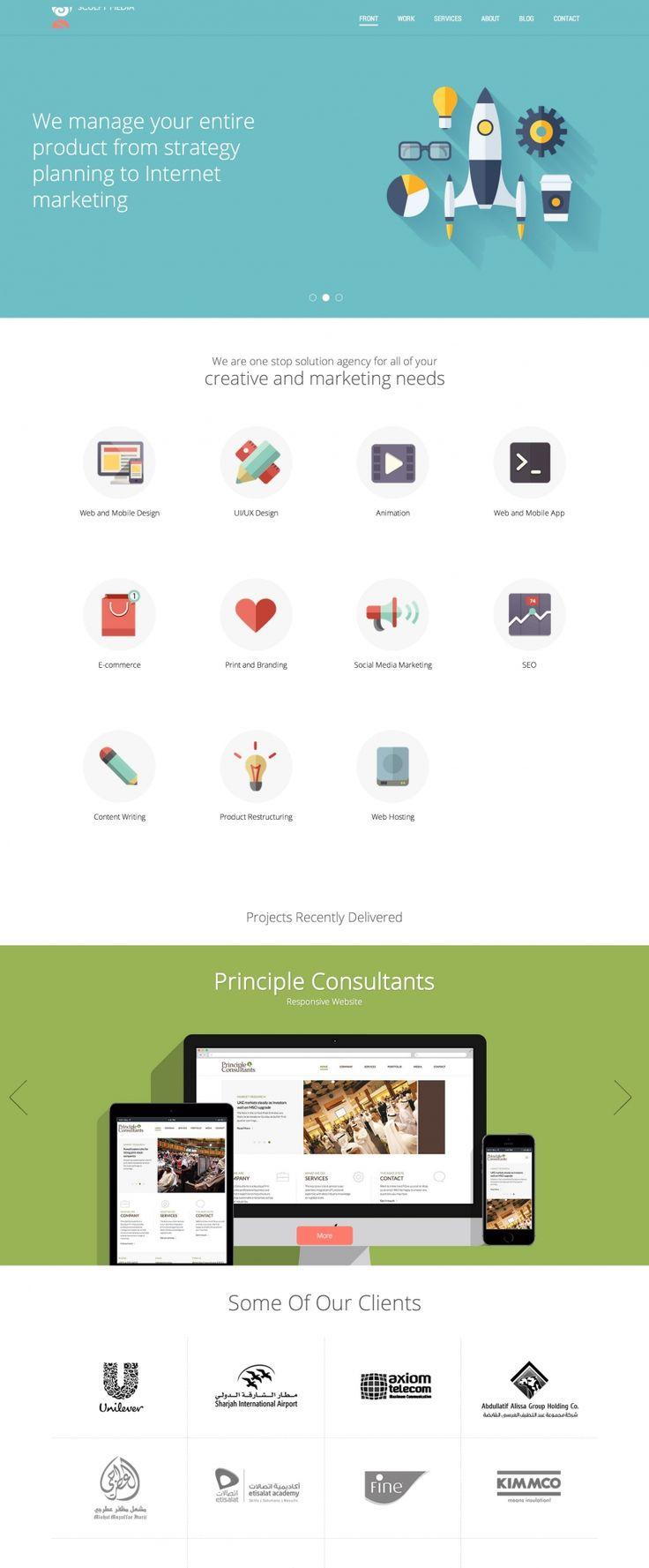 Screenshot of Bootstrap site: Sculpt Media